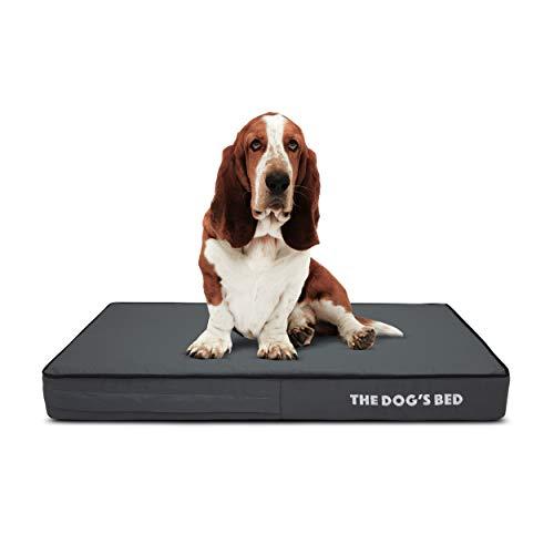 The Dog's Bed Lit orthopédique pour chien en mousse visco-élastique imperméable Noir Taille M 86 x 56 x 10 cm
