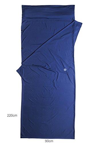 BAHIDORA Sábana para Saco de Dormir, Viajes, Microfibra. Ideal para: Viajes mochileros, Senderismo, Acampada y para… 1