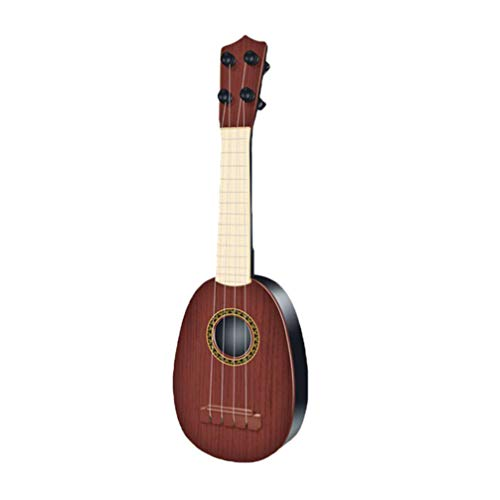 Toyvian Juguete de Guitarra de Simulación Juguete de Instrumentos Musicales para Niños Juguete de Guitarra Ukelele Mini (Color Aleatorio)