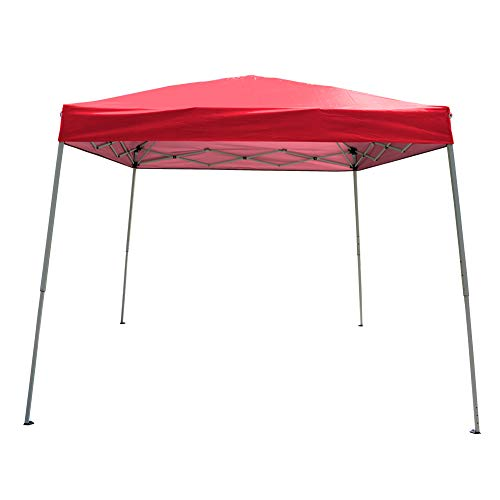Polar Aurora 10' X 10' 5 Color Slant Leg Easy Pop up Popup Canopy Party Sun Shade Tent (Blue)