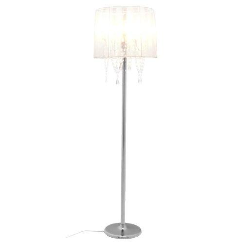 DuNord Design Stehlampe Stehleuchte VENEZIANISCHER KRONLEUCHTER Weiss Organza Lüster Barock