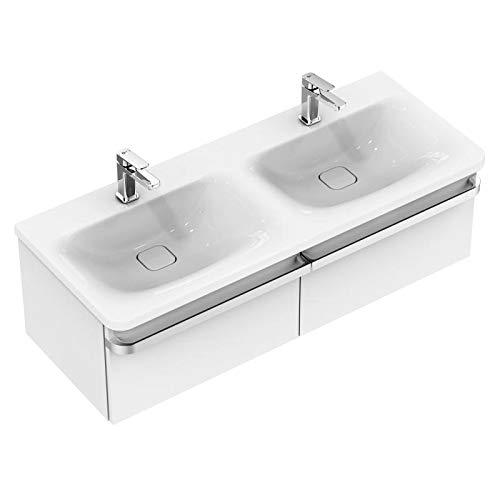 Ideaal Standaard Tonic II meubel dubbele wastafel 1215mm K0870, Kleur: Wit met Ideal Plus - K0870MA