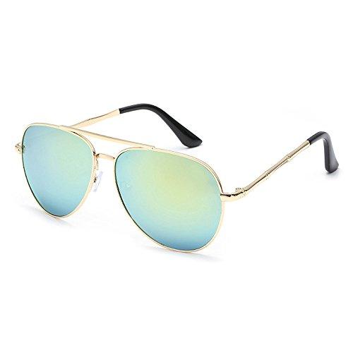 IFOUNDYOU Runde Sonnenbrille Kreis Stil Steampunk Inspiriert Runde Für Frauen Und Männer Kleine Runde Reflektierte Linsen Metallrahmen Polarisierte Sonnenbrille Für