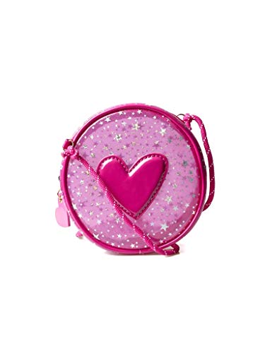 Agatha Ruiz de la Prada Bandolera Bolso Redondo Infantil Glitter rosa con corazón
