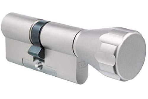 EVVA ICS Knaufzylinder mit 3 Wendeschlüssel + Sicherungskarte, Hochsicherheits-Zylinderschloss mit Knauf, einzelschließend oder gleichschließend, Schließanlage, Länge A:41 mm K:51 mm