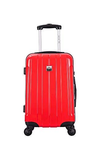 France Bag Rigid Cabin Suitcase Polycarbonate Bahamas Red