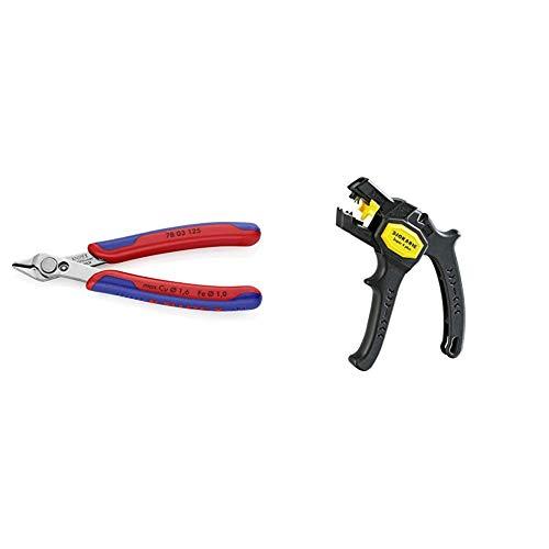 Knipex 78 03 125 – Präzisionszange Electronic Super Knips & Jokari 20050 Abisolierzange Super 4 plus