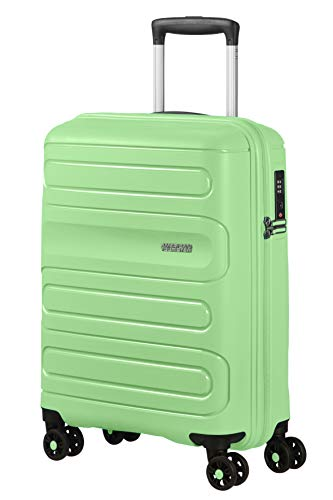 American Tourister Sunside - Spinner S Bagaglio a Mano, 55 cm, 35 L, Verde (Neo Mint)