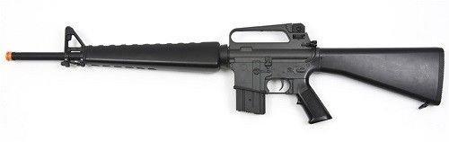 jg m16a1 vietnam aeg airsoft rifle with full...