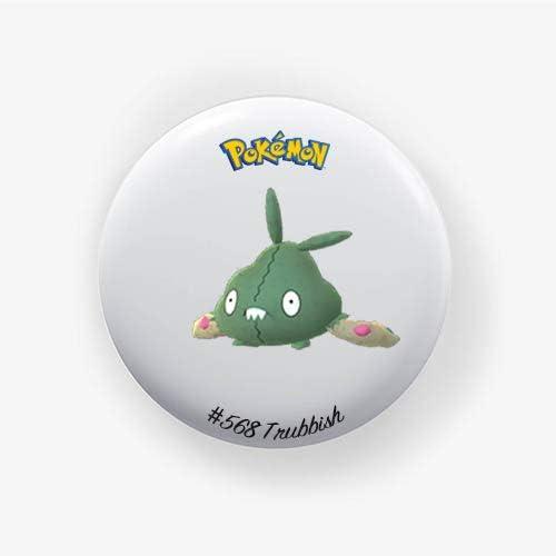 Trubbish 38mm Badge Pokemon Go Pinback Button Badge 1.50 Inch