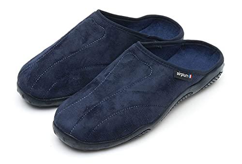 ソドパック エアープラム SODOPAC airplum ルームシューズ ダカール DAKAR [スリッパ 室内履き フランス製] (41 ブルー)