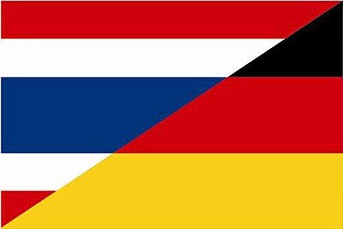 U24 Motorradflagge Thailand-Deutschland Fahne Flagge 20 x 30 cm