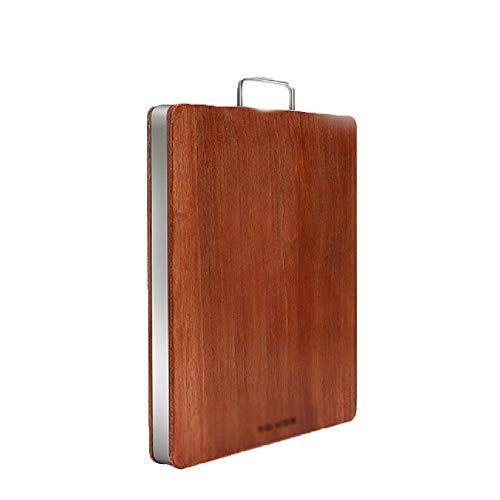 Tabla de cortar de madera de ébano Hogar Antibacterial Molde a prueba de moldes Tablero de corte de cocina,Brown