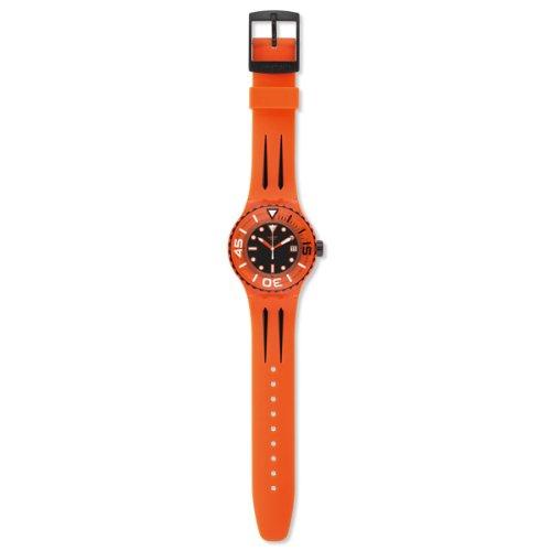 Swatch Reloj Analógico de Cuarzo para Hombre con Correa de Silicona – SUUO400