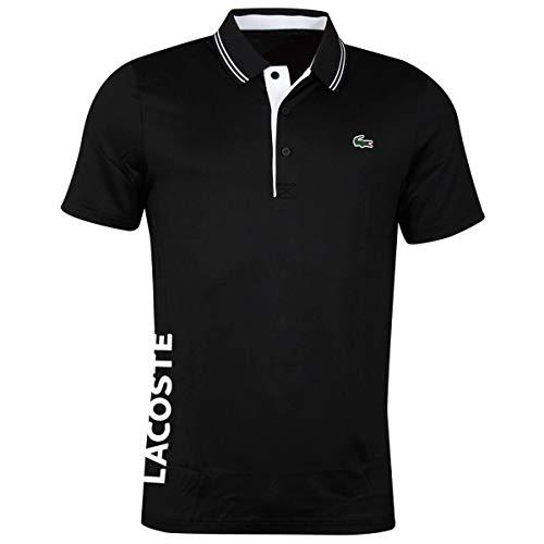 Lacoste Sport Herren Dh6843 Polohemd, SCHWARZ/SCHWARZ-Weiss, L