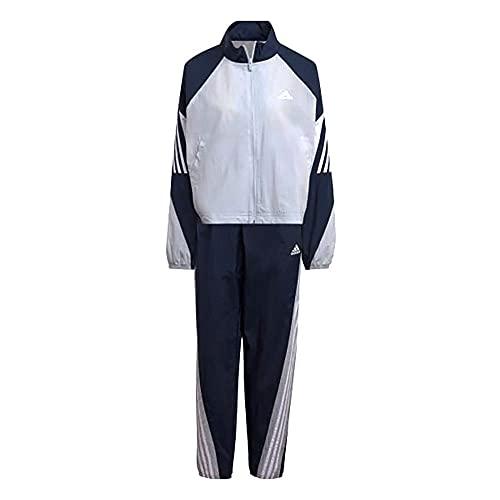 adidas GL9479 W TS WVN GAMETI Tracksuit Womens halo Blue/Crew Navy/White M