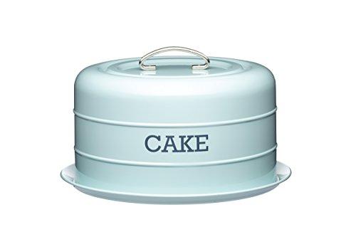 Kitchen Craft Living Nostalgia Campana in Latta per Torte, Salva freschezza, Colore: Blu, capacità: 10 L