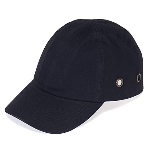 Lucent Path 20 Black Baseball Bump Caps - Lightweight Safety Hard hat Head Protection Cap