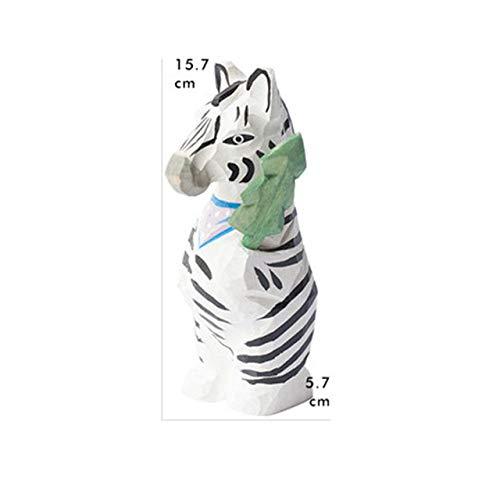 yueyue947 Manual de Estilo Europeo Simulación de Madera Cabeza de Animal Retratos Adornos Creativos Niños Dormitorio Decoración de Dibujos Animados/Multicolor