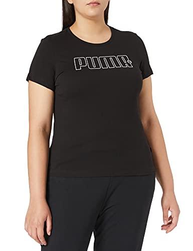PUMHB|#Puma Rebel Graphic Tee, Maglietta Donna, Puma Black, S