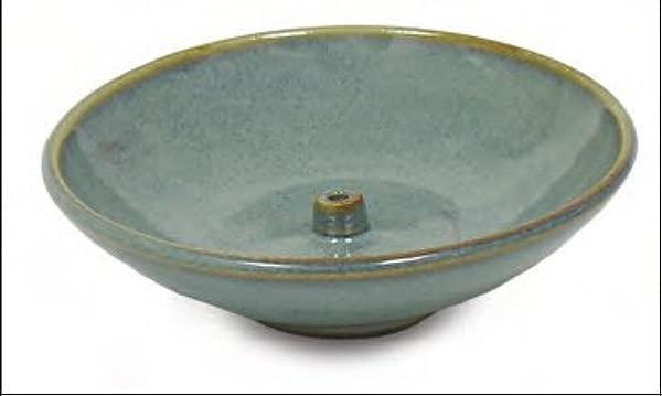 Shoyeido HandCrafted Ceramic Round Incense Burner Holder Hazel