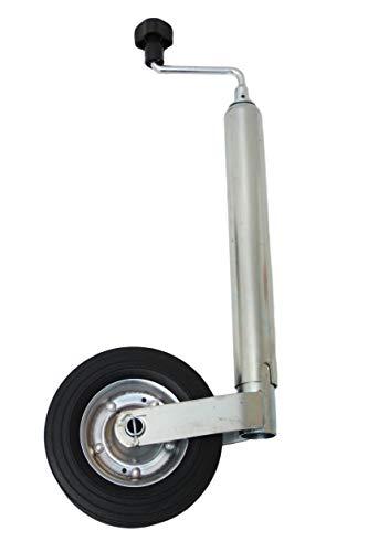 p4U Stützrad Bugrad mit Drucklager 150 kg 48mm - 48er Aufnahme für Anhänger Wohnwagen