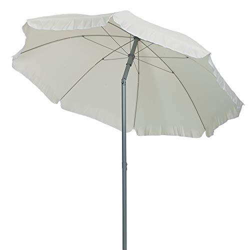TrendLine Sonnenschirm Creme Ø 180 cm UV-Schutz: 60+ Sonnenschutz Strandschirm