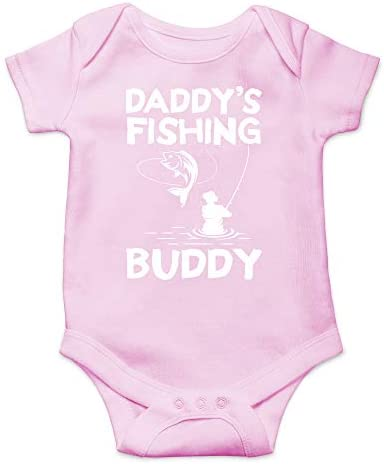 CBTwear Daddy s Fishing Buddy Funny Dad to Be Gift Cute Infant One Piece Baby Bodysuit 6 Months product image