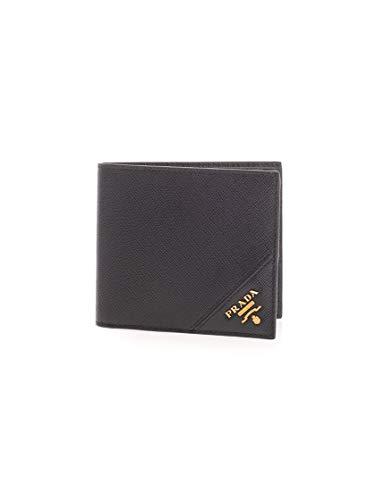 Luxury Fashion | Prada Heren 2MO513QMEF0632 Zwart Leer Portemonnees | Lente-zomer 20