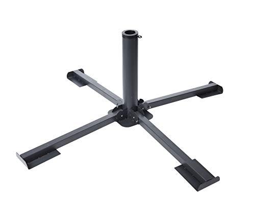 Sonnenschirm Ständer für Gehwegplatten 40x40 cm - Metall Platten Ständer - Schirmständer für Schirmstöcke Ø 35/38/44mm