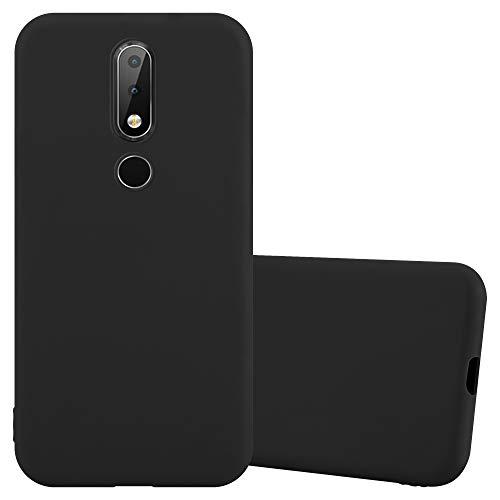 Cadorabo Custodia per Nokia X6 / Nokia 6.1 Plus in Candy Nero - Morbida Cover Protettiva Sottile di Silicone TPU con Bordo Protezione - Ultra Slim Case Antiurto Gel Back Bumper Guscio