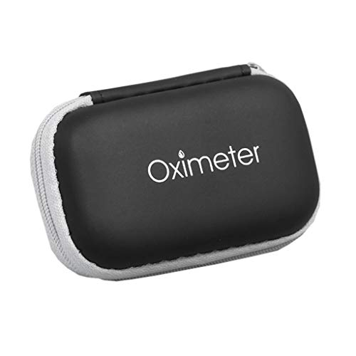 CCIIO Estuche de oxímetro Organizador de oxímetro de Pulso portátil para la yema del Dedo Bolsa de EVA de fácil Transporte