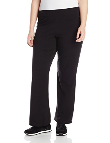 Spalding Women's Plus SizeWomen's Bootleg Pant, Black, 2X