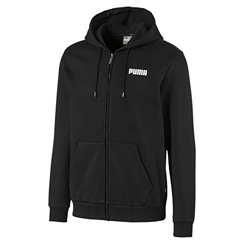 PUMA Essentials Herren Fleece Sweatjacke mit Kapuze Cotton Black L