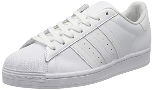 adidas Men's Superstar Sneaker, FTWR White/FTWR White/FTWR White, 4.5 UK