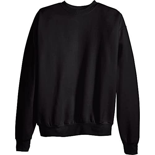 Hanes Men's EcoSmart Sweatshirt, Black, Medium