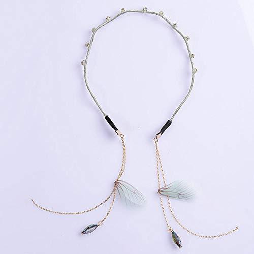 Accessoires pour cheveux Bandeau avec fausses boucles d'oreilles pompon simple avec pendentif trou de cheveux pendentif femelle en épingle à cheveux b