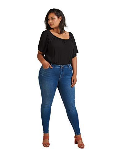 Zizzi Amy Jeans Große Größen Damen Super Slim Fit High Waist...