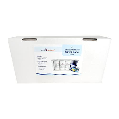 well2wellness® Pool Komplettset Wasserpflege - Schwimmbad Wasserpflege Kit CLEWA 5in1