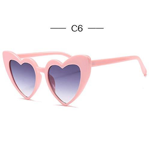 2THTHT2 Mujeres Corazón Ojo De Gato Gafas De Sol Diseñador De La Marca Lolita Gafas De Sol Damas Elegantes Lentes Sexy MujerUv400