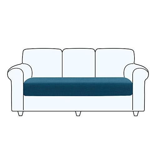 TAOCOCO Fundas de cojín para sofá,Protector de cojín de Asiento de Tela de poliéster de Alta Elasticidad (Azul océano, 3 Asientos)