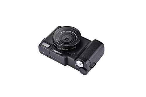 Fotocamera Digitale Fotocamera compatta Full HD 2.7K 30MP Fotocamera vlogging per YouTube Macchina Fotografica con scheda di memoria 32G e 2 batterie (G06C, BLACK) (G06)