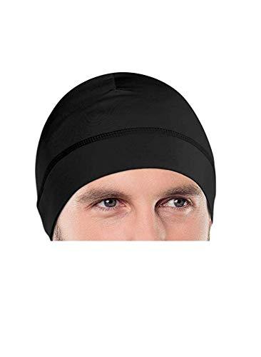 BISMAADH Cap Helmet Liner for Men, Fits Under Helmets (Black)