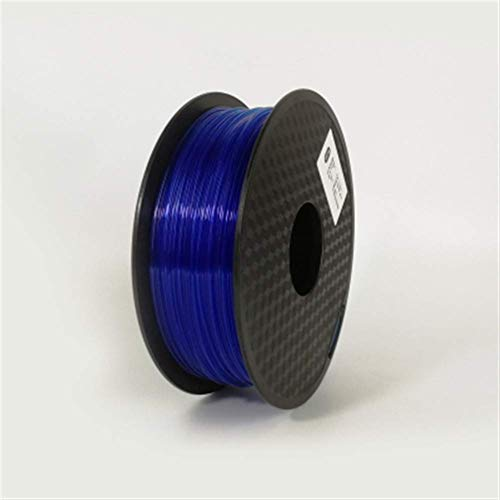 3D Printing Filament TPU Flexible Filament TPU filament Plastic for3D Printer 1.75mm Printing Materials Gray Black Red Color toughness (Color : Blue) JIAJIAFUDR (Color : Transparent Blue)