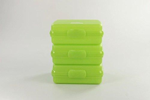 TUPPERWARE To Go Sandwich-Box limette (3) Brotbox Schule Pausenbrotbehälter A126