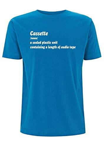 Time 4 Tee Cassette Significado Camiseta para Hombre con Cinta Adhesiva Old...