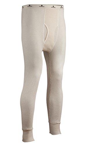 Indera - Pantalón Interior térmico de algodón para Hombre, Tela Waffle, Color Natural, Mediano
