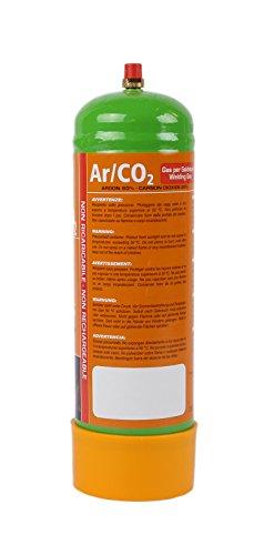 110 bar Einwegflasche 1 Liter Mischgas 80% Argon 20% CO2 (110 Liter Schweißgas für MAG-Schweißen)