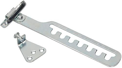 KOTARBAU® Kipp-Regler für Fenster Fensterfeststeller Zuschlagschutz Fensterriegel zum Einstellen der Fensteröffnung Fensterstopper Kippschere Silber