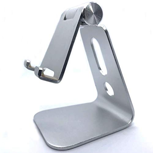 Ebingoo Tablet Stand Adjustable Tablet Holder Phone Stand for Desk Tablet Holder for People (Silver)